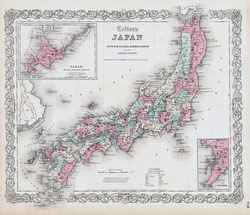 70511-0014 - Map of Japan 1855