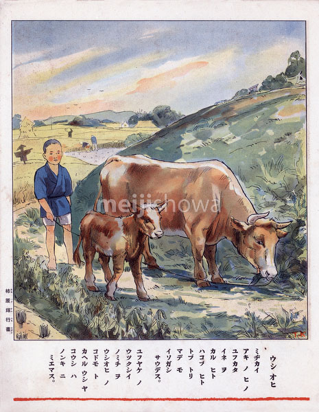 70822-0007 - Boy with Cows