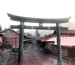 80107-0066 - Torii Gate at Village
