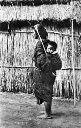 80201-0055 - Ainu Mother and Child