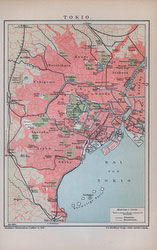70228-0020 - Map of Tokyo 1890s