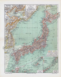 70228-0021 - Map of Japan 1900s
