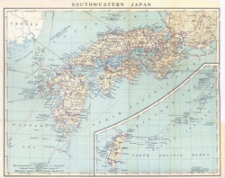 70305-0005 - Map of Japan 1914