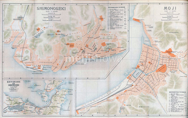 70305-0006 - Maps of Shimonoseki, Moji