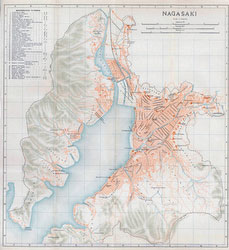 70305-0008 - Map of Nagasaki 1914