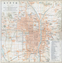 70305-0015 - Map of Kyoto 1914
