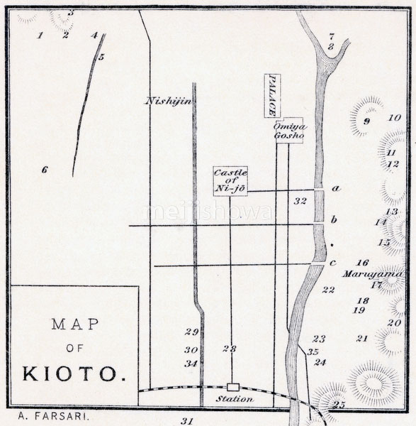 70405-0010 - Map of Kyoto 1890