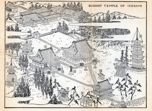 70411-0005 - Map of Ikegami Honmoji 1903