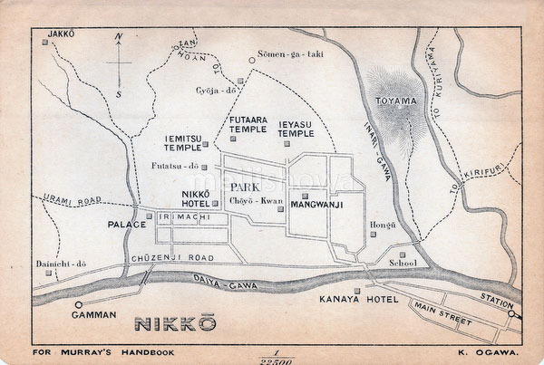 70411-0013 - Map of Nikko 1903