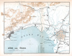 70411-0019 - Map of Osaka, Hyogo 1903