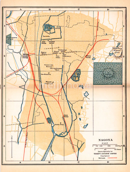 70424-0014 - Map of Nagoya 1920