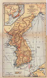 70424-0025 - Map of Korea 1920