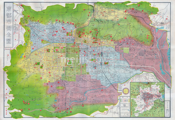 70509-0002- Map of Kyoto 1936