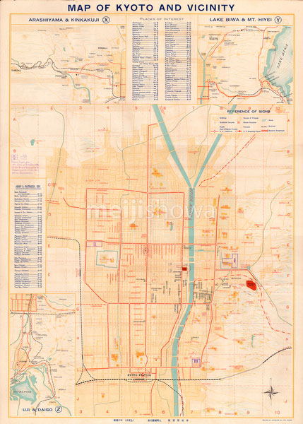 70509-0007 - Map of Kyoto 1928