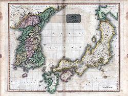 70511-0015 Map of Korea, Japan 1815