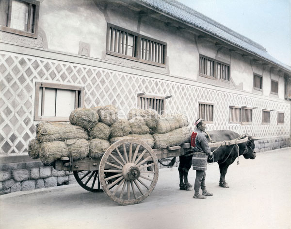 70523-0008 - Oxcart with Rice Bags