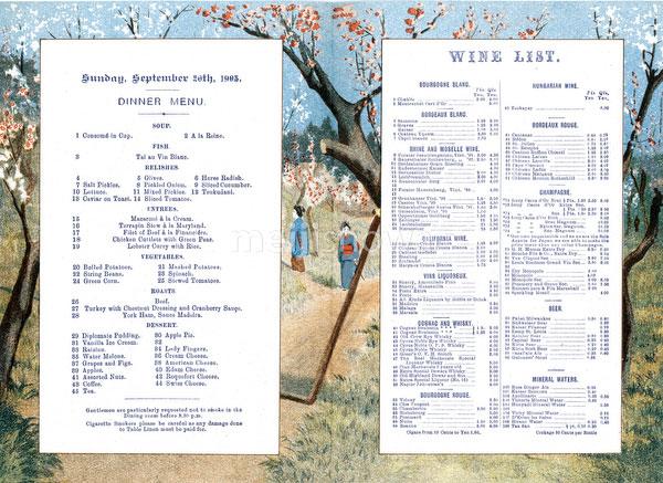 80115-0007 - Grand Hotel Menu
