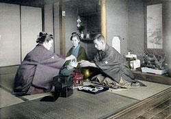 80115-0035 - New Year - Drinking Sake