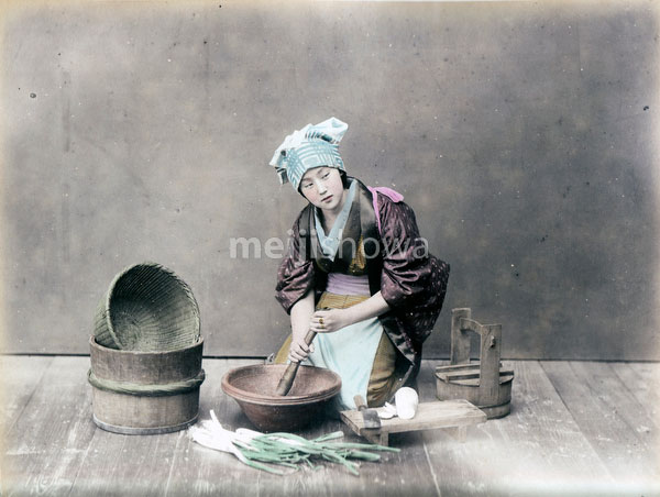 80129-0048 - Woman Cooking