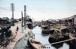 80201-0027 - Boats on Ookagawa River