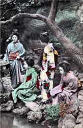 90510-0013 - Women in Garden