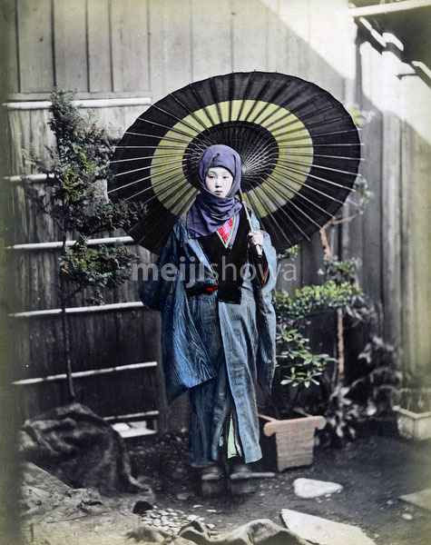 80302-0078-PP - Woman with Parasol