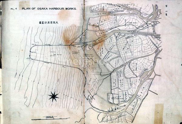 00417-0272 - Osaka Harbor Map