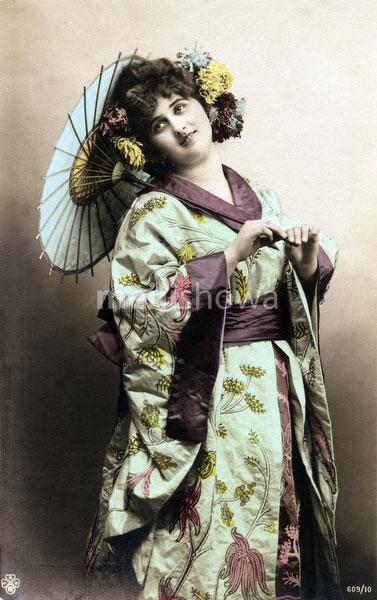 130125-0043 - Western Woman in Kimono