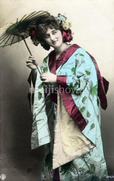 130125-0044 - Western Woman in Kimono