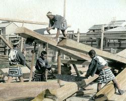 120207-0013-PP - Carpenters Sawing Timber