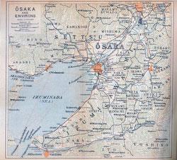 70305-0014 - Map of Osaka 1914