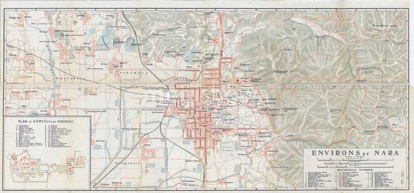 70305-0017 - Map of Nara 1914
