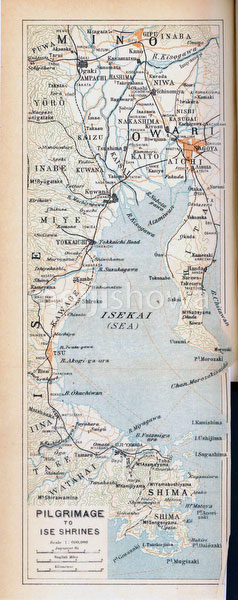 70305-0018 - Map of Ise Pilgrimage 1914