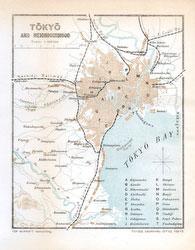 70411-0010 - Map of Tokyo 1903