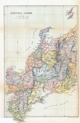 70411-0015 - Map of Central Japan 1903