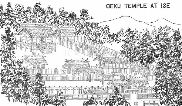 70411-0017 - Map of Ise Shrines 1903