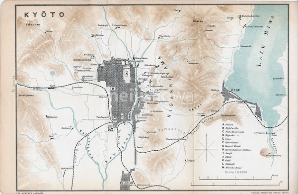 70411-0019 - Map of Kyoto 1903