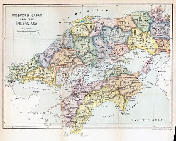 70411-0020 - Map of Western Japan 1903