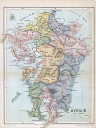 70411-0021 - Map of Kyushu 1903