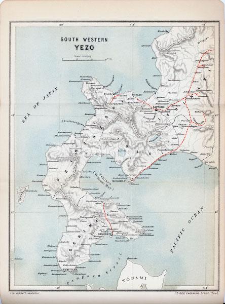 70411-0025 - Map of Hokkaido 1903