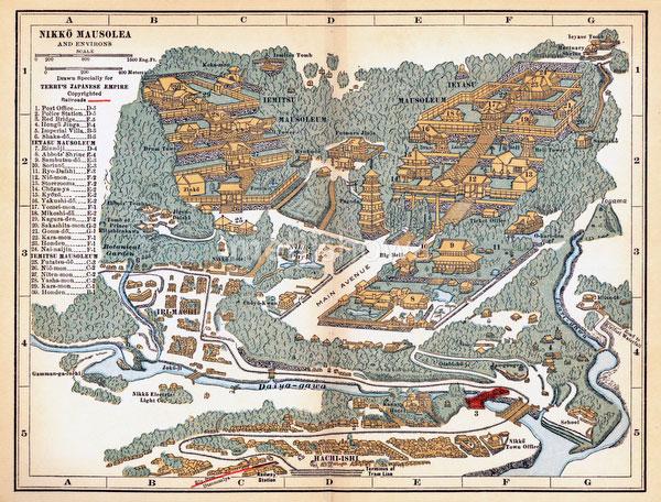 70417-0006 - Map of Nikko 1920