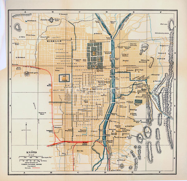 70417-0008 - Map of Kyoto 1920