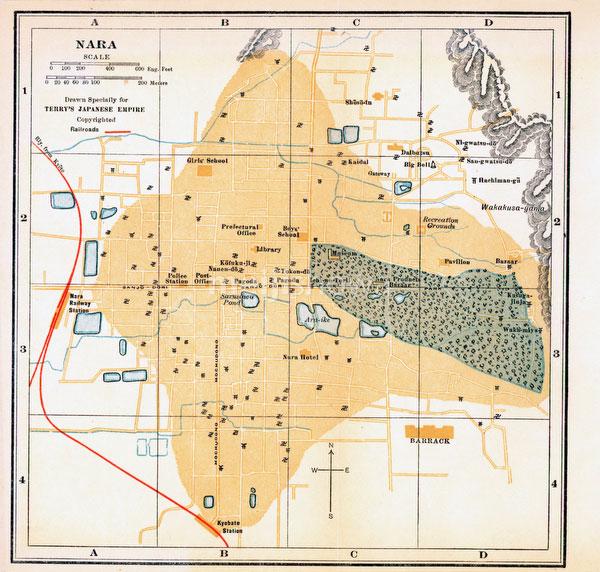 70417-0009 - Map of Nara 1920