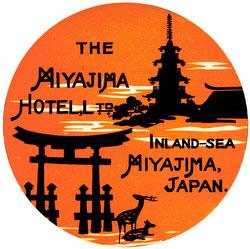 70423-0014 - Miyajima Hotel Label