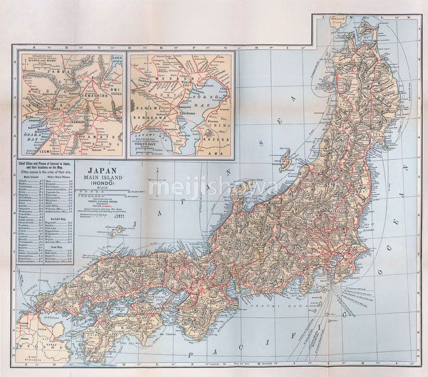 70424-0002 - Map of Honshu
