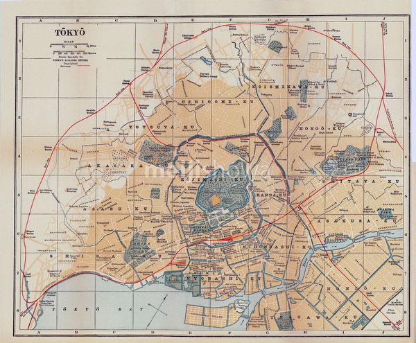 70424-0003 - Map of Tokyo 1920