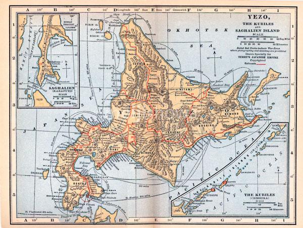 70424-0004 - Map of Hokkaido 1920