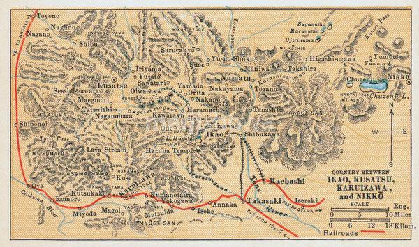 70424-0007 - Map of Ikaho, Kusatsu