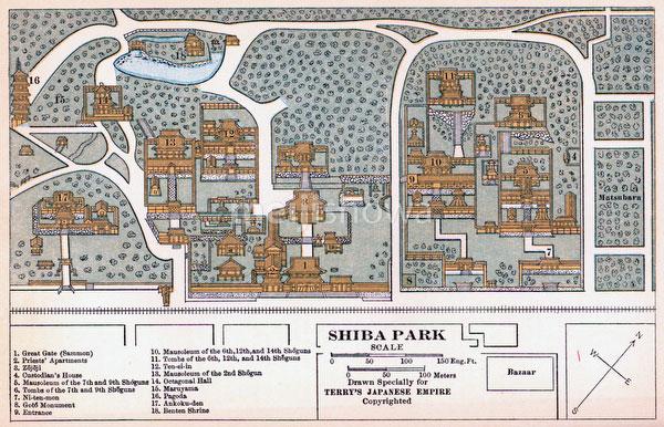70424-0008 - Map of Shiba Park 1920