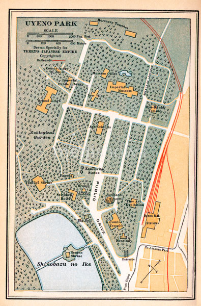 70424-0009 - Map of Ueno Park